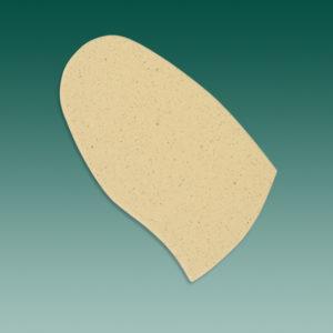 Bettungskork dreiviertelsohlig 5 mm